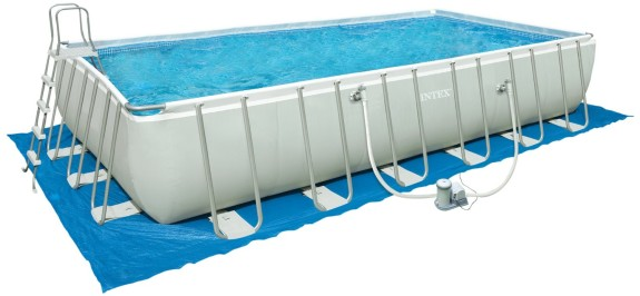 Intex 54979EG 24-Foot by 12-Foot by 52-Inch Rectangular Ultra Frame Pool