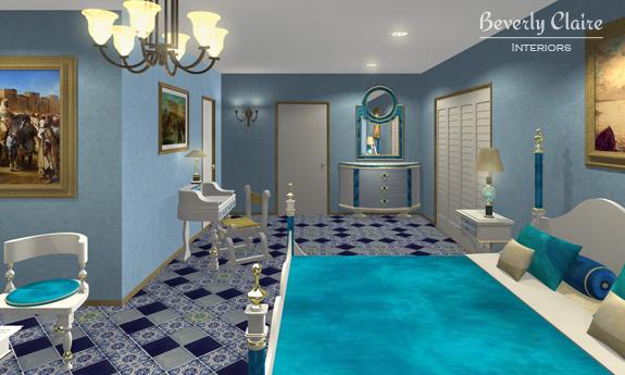 A blue Med hotel
