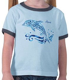 The Dolphin is My Friend Blue Sea Water Marine Joy T Shirts