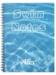 Clear Cool Blue Aquatic Pool Water Swimming Spiral Notebook