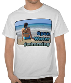 Love Open Water Swimming Sand Beach Heart Sea Tshirt